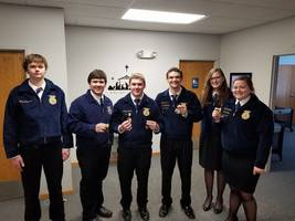 FFA MEMBERS SPEAK THEIR WAY INTO THE RED BLUE AND GOLD.
