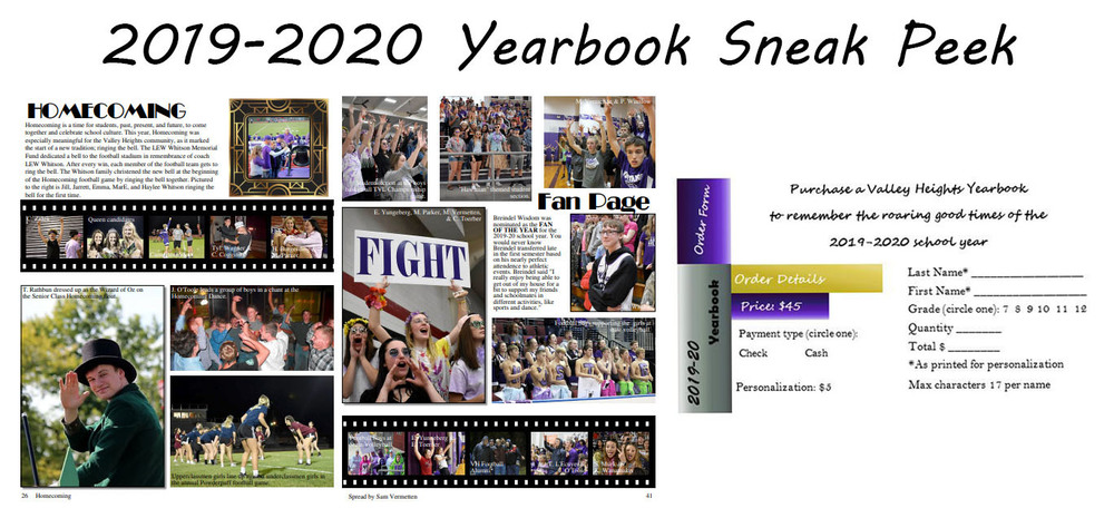 2019-2020 Yearbook Sneak Peek