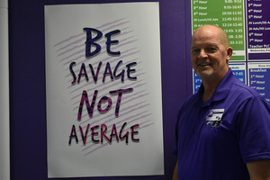 BE SAVAGE, NOT AVERAGE.