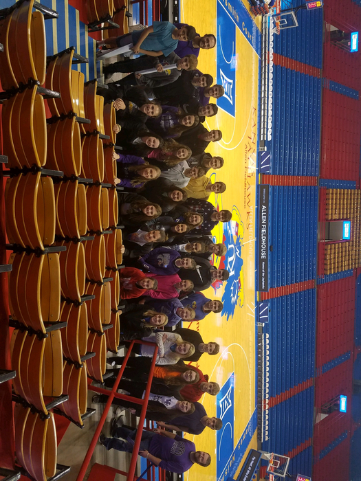 Men's and Women's basketball teams touring Allen Field House!