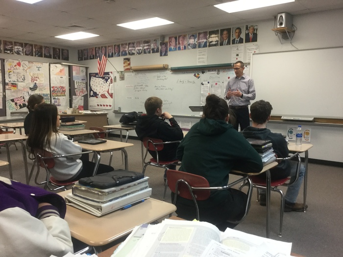 A big Thank You to Chad Parker who came to visit with Mr. Whitson's MTSS Class about Social Security issues!