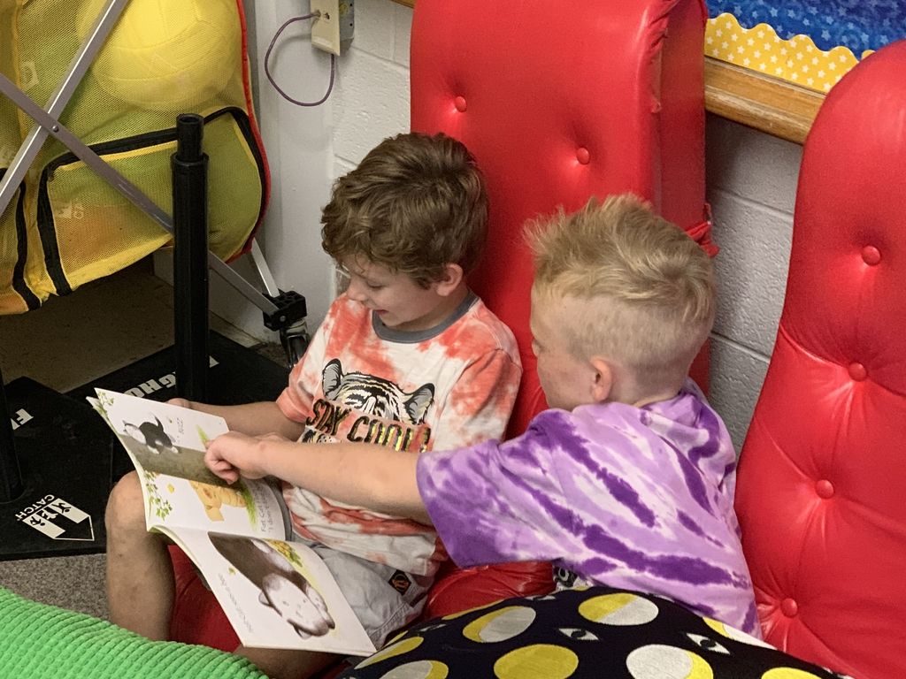 First grade reading to third grade during KRR afterschool programming!