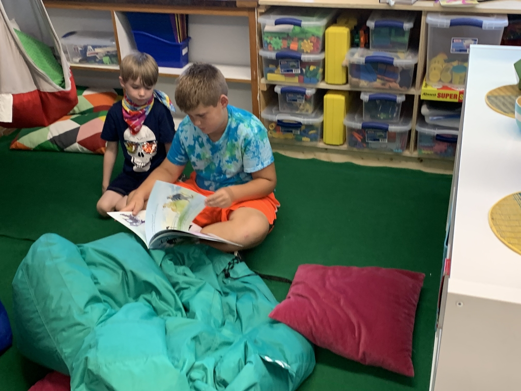 Third grade reading to first grade inKRR afterschool programming!