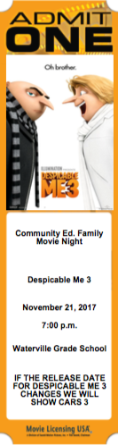 Don't forget Family Movie Night!