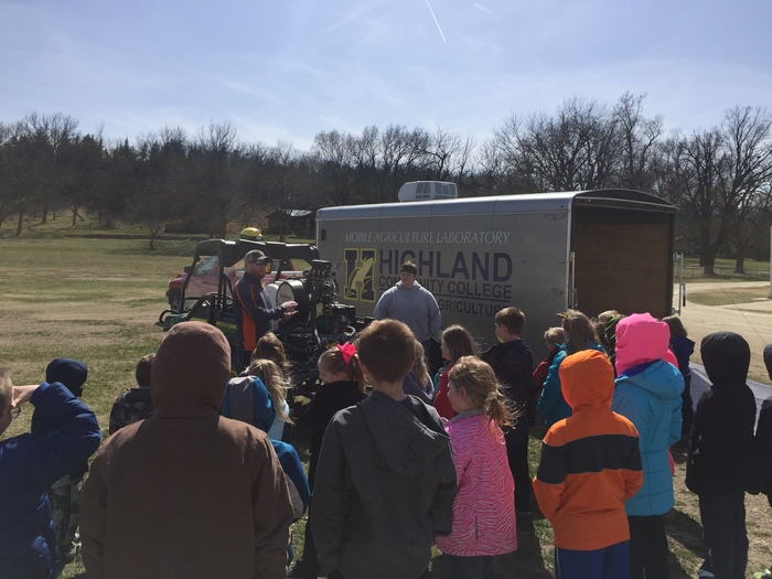 Highland Community College honored Colts Round-Up by stopping by and giving us a close-up look at Precision Agriculture!