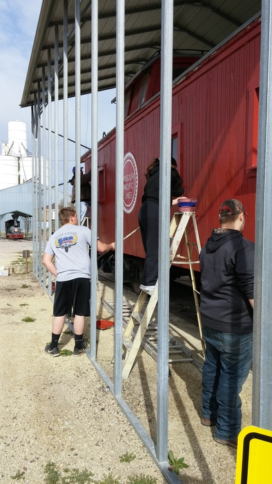 Painting the Caboose