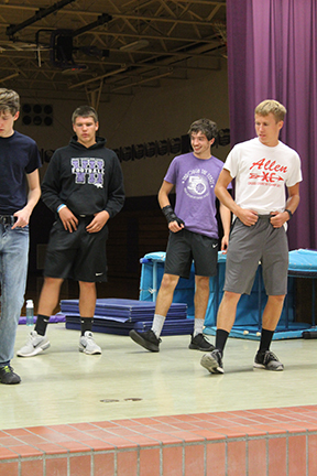 Landon Woodyard, Tyler Wagner, Bryan Yungeberg, Alex Hardin kickin' up their heels